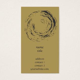 Zen-Art - Kreis im Bürsten-Malerei-Geschäft Visitenkarte