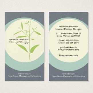 Zen-Bambusmassage-Therapie-Visitenkarte - Grau Visitenkarte