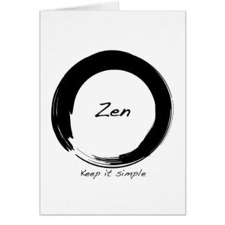 Zen: Behalten Sie ihn einfach Karte