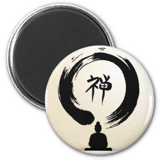Zen-Buddha-Magnet Runder Magnet 5,7 Cm
