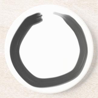 Zen-Buddhist Enso Kreis Sandstein Untersetzer