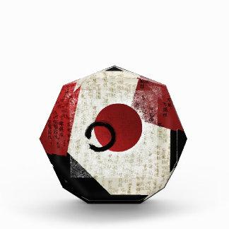 Zen Ensō Kreis mit Kanji-Potenzial 1 Acryl Auszeichnung