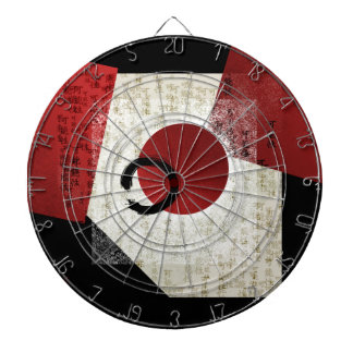 Zen Ensō Kreis mit Kanji-Potenzial 1 Dartscheibe