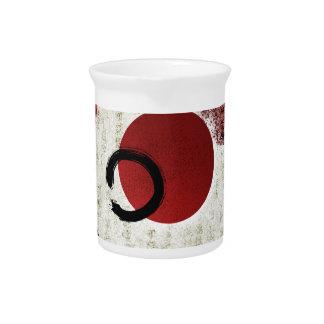 Zen Ensō Kreis mit Kanji-Potenzial 1 Krug