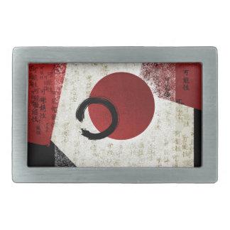 Zen Ensō Kreis mit Kanji-Potenzial 1 Rechteckige Gürtelschnalle