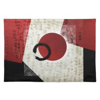Zen Ensō Kreis mit Kanji-Potenzial 1 Stofftischset