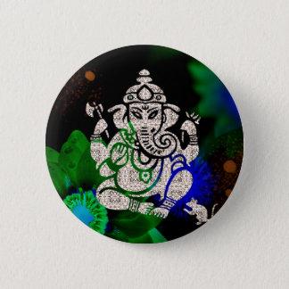 Zen Ganesh Runder Button 5,1 Cm