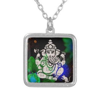 Zen Ganesh Versilberte Kette