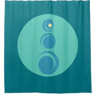 Zen-geometrische Kurven Duschvorhang