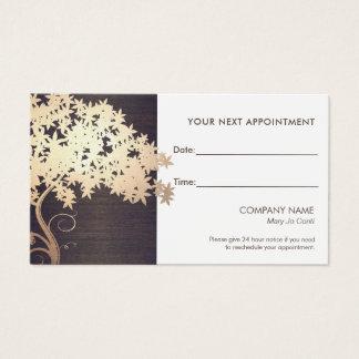 Zen-Goldniederlassungs-Salon und Visitenkarte