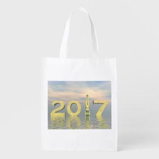 Zen-guten Rutsch ins Neue Jahr 2017 - 3D Wiederverwendbare Einkaufstasche