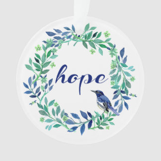"""Zen, inspirierend """"Hoffnungs-"""" Zitat Ornament"""