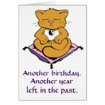 Zen Kitty Cat Meditation Yoga Birthday Card Grußkarte