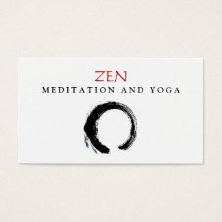 Zen-Kreis Enso Yoga-und Meditations-Buddhist 3 Visitenkarte