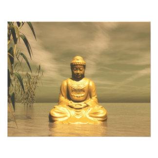 Zen meditierender Buddha Flyer