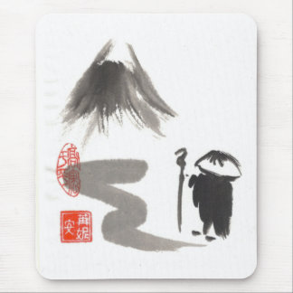 Zen-Mönch auf Reise Mousepads