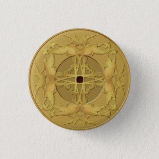 Zen-Münzen-Knopf Runder Button 3,2 Cm