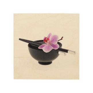Zen-Orchidee Holzleinwand