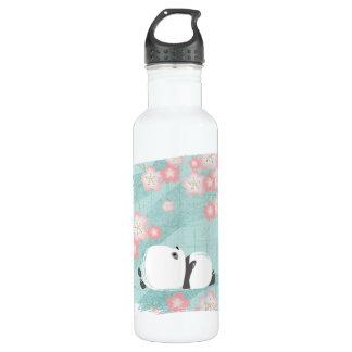 Zen-Panda-hohe Flasche (Pflaumen-Blüten) Edelstahlflasche