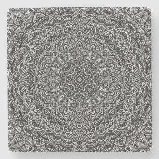 Zen-Schwarzweiss-Mandala Steinuntersetzer