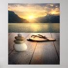 Zen-Sonnenuntergang-Plakat Poster