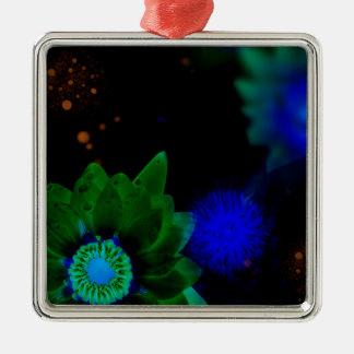 Zen-Stärken-Lotos-Blume Silbernes Ornament