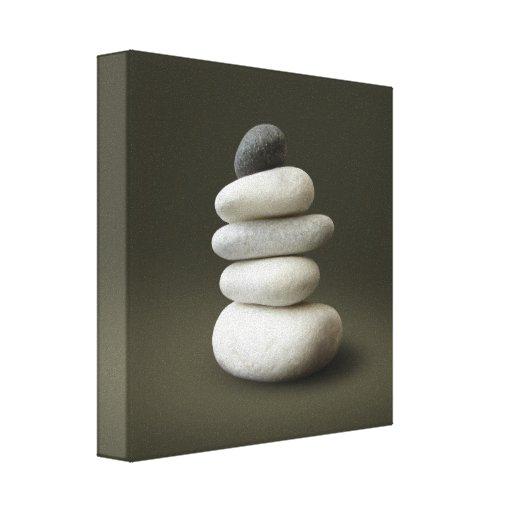 Zen steine eingewickelte leinwand leinwand druck zazzle for Leinwand fa r wohnzimmer