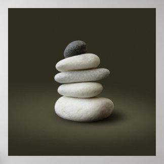 Zen-Steine - Plakat