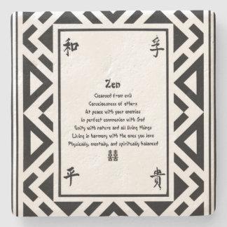 Zen Steinuntersetzer