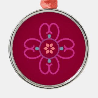 Zen-Stern Silbernes Ornament