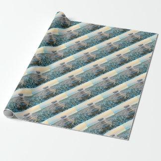 Zen-Strand-Steine Geschenkpapier