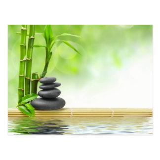 Zen Tranquility-Wassergarten durch heilende Liebe Postkarte