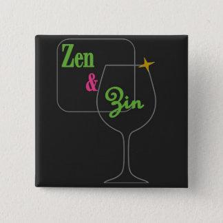 Zen und Zin Knopf Quadratischer Button 5,1 Cm