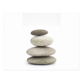 Zen yogo Steine Postkarte