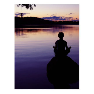 Zenfriedensyogastille-Meditationsnatur Postkarten