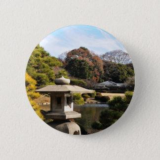 Zengarten in Tokyo, Japan Runder Button 5,7 Cm