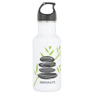 Zenkieselsteine, die Wasserflaschen-Trinkbehälter Trinkflasche