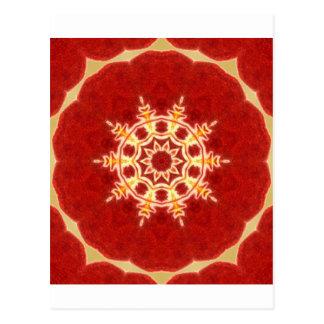 Zenorchideen-Mandala Postkarte