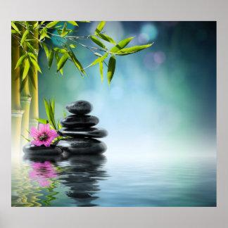 Zenparadiesgarten, Serenity, friedlich, Yoga Poster