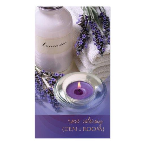 Zenraum/Lavendel-Visitenkarten Visitenkarten
