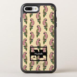 Zentangle Art plappert   Monogramm nach OtterBox Symmetry iPhone 8 Plus/7 Plus Hülle