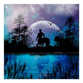 Zentaur-Silhouette Poster