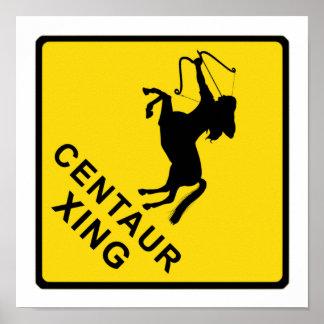 Zentaur-Überfahrt - Zeichen Poster