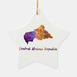 Zentrale African Republic im Watercolor Keramik Stern-Ornament