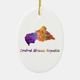Zentrale African Republic im Watercolor Ovales Keramik Ornament