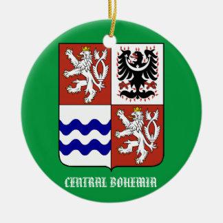 Zentrale Böhmen-Verzierung Rundes Keramik Ornament