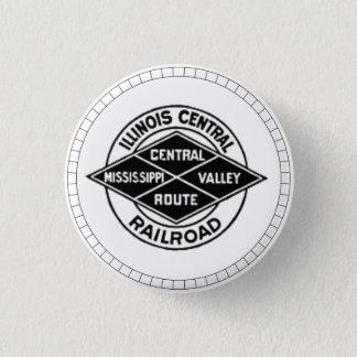 Zentrale Eisenbahn-Vintager Logo-Knopf Illinois Runder Button 3,2 Cm