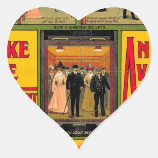 Zentrale London Railway, by, unknown artist Herz-Aufkleber