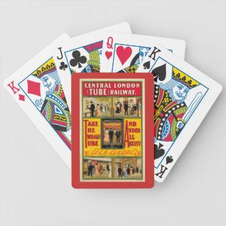 Zentrale London Railway - Chartas des Pokers Bicycle Spielkarten