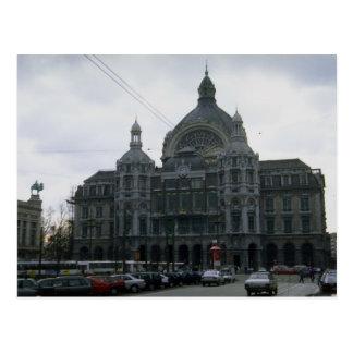 """Zentrale Station"""", Antwerpen, Belgien Postkarte"""